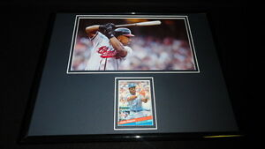 Julio-Franco-Signed-Framed-11x14-Photo-Display-Braves-Indians