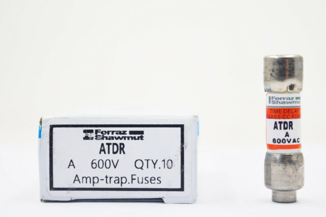 ATDR 15 Fuse Ferraz ATDR-15 15Amp 600V Slow Blow Class CC Cartridge
