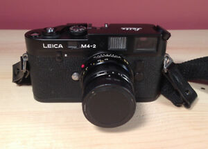 Details about Leica M4-2 35mm Camera PLUS Leitz Summicron-M 50mm F/2 Lens -  Free Shipping!