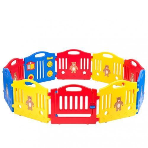 10 Panel Safety Play Center Yard Baby Playpen Kid Home Indoor Outdoor Pen Fence