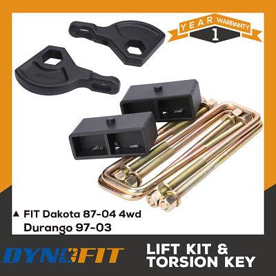 "Steel Leveling KitFront Adjustable 1-3/"" Rear 2/""Dakota 1987-2004 4WD"