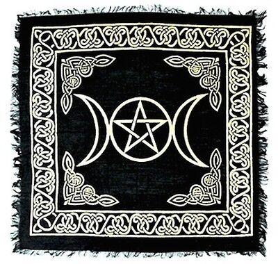 "18"" x 18"" Triple Moon Goddess Pentacle Altar Cloth!"