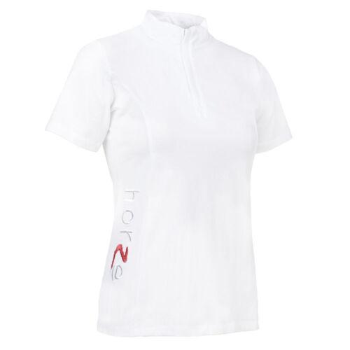 Horze Women/'s Technical Short Sleeved Show Shirt with Embroidered Horze Logo