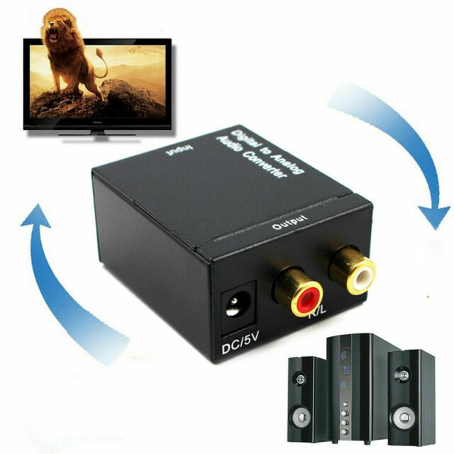 Digital Optical Toslink or SPDIF Coax to Analog L//R RCA Audio Converter Ada W6K5