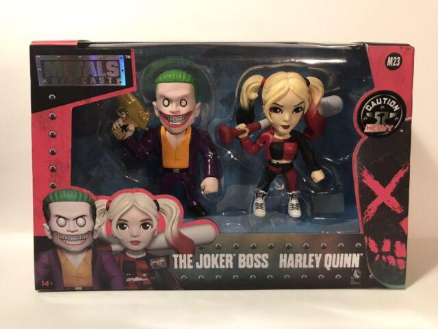 "4/"" METALS Twin Pack Harley Quinn Joker Set NEW Suicide Squad Boss M23 DC COMICS"