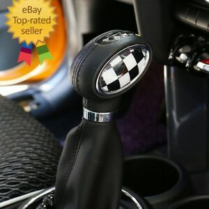 Usa Stock 2x Black Checkered Auto Gear Knob Badges Mini Cooper F54