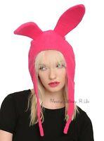 Ew Bob's Burgers Louise Belchers Rabbit Ear Hat Cosplay Costume Beanie Cap