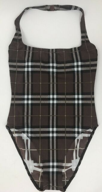 1cb248092f2d6 Burberry London Beige Nova Check One-piece Swimsuit Sz Small | eBay