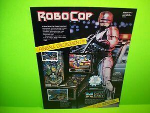 Data-East-ROBOCOP-Original-1989-NOS-Flipper-Game-Pinball-Machine-Sale-Flyer-Rare