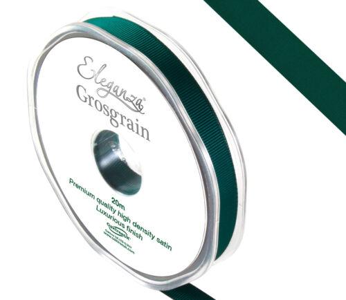 Cinta del grosgrain Calidad Premium 10mm X 20m por Eleganza 24 Colores Disponibles