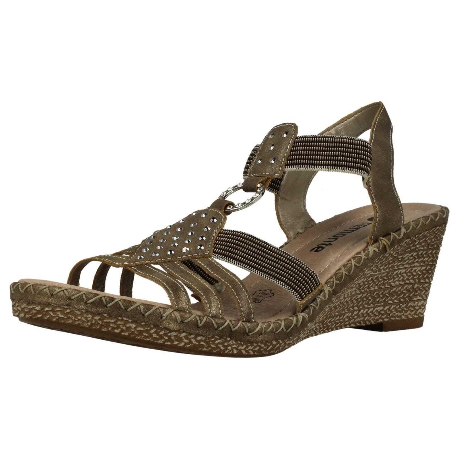 Mujer Remonte d6768 Sintético Elegante Sandalias Con CuñA