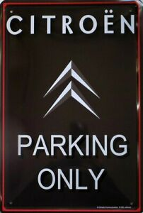 PLAQUE-METAL-vintage-CITROEN-PARKING-ONLY-30-x-20-cm