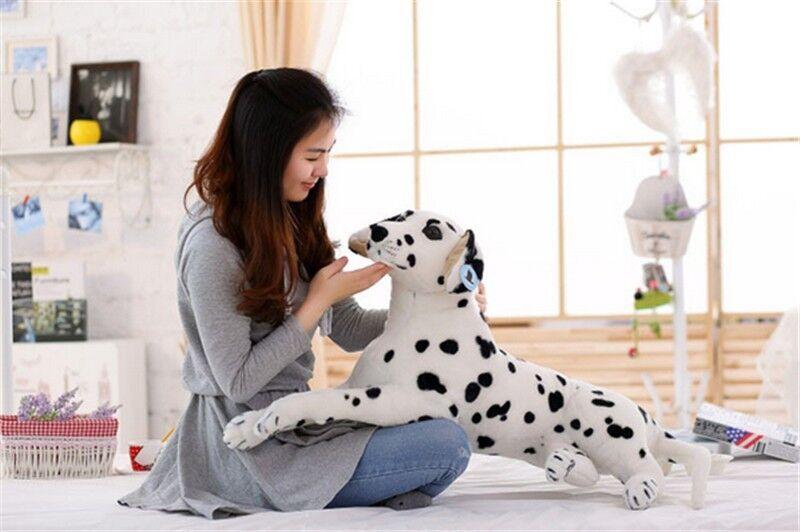 35'' Giant Dalmatians Dog Stuffed Soft Plush Lifelike Animal Toy Doll Kids Gifts
