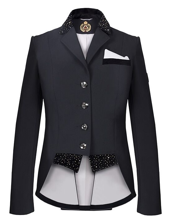 Fair play turnierjacket Dressage mostrare jacket Bea, poco Frack, Nero, immediatauominite