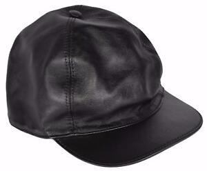 6bc69d495e7c4 NEW Gucci Men s 368361 Black Calf Leather Baseball Cap Hat M