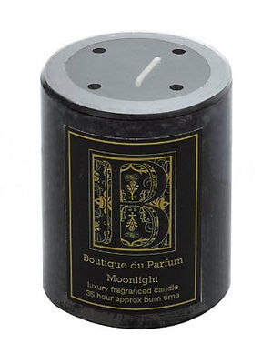 Boutique Du Parfum Moonlight Black & Gold Scented Home Candle ~ Gift ~ 83-0639