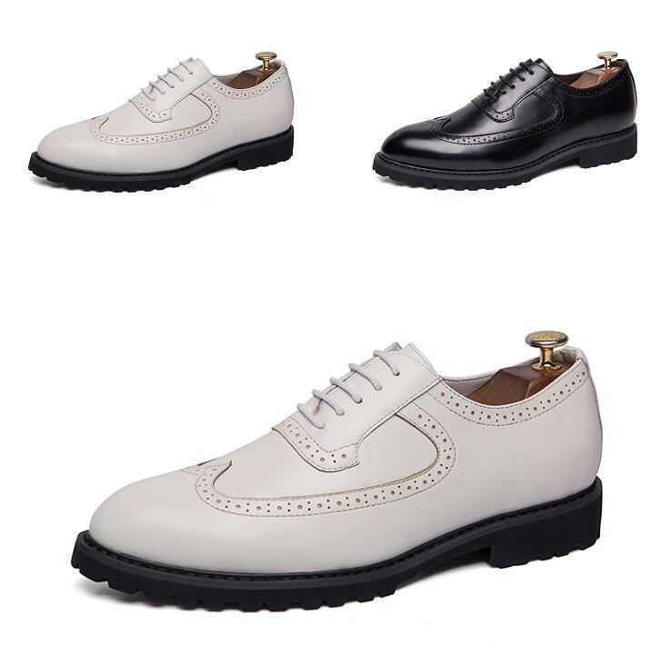 Homme Business Richelieu à Lacets Respirant Escarpins Chaussures Derbies Robe Formelle Chaussures