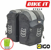 Eigo Vertigo Bicycle Panniers With Rain Covers Large Cycle Luggage