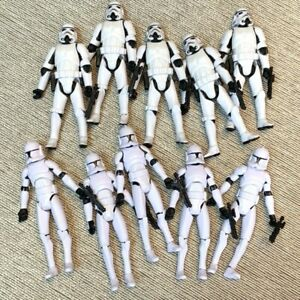 """10x OTC Trilogy Stormtroopers & No. 5 Clone Trooper 3.75"""" Figures Toy"""