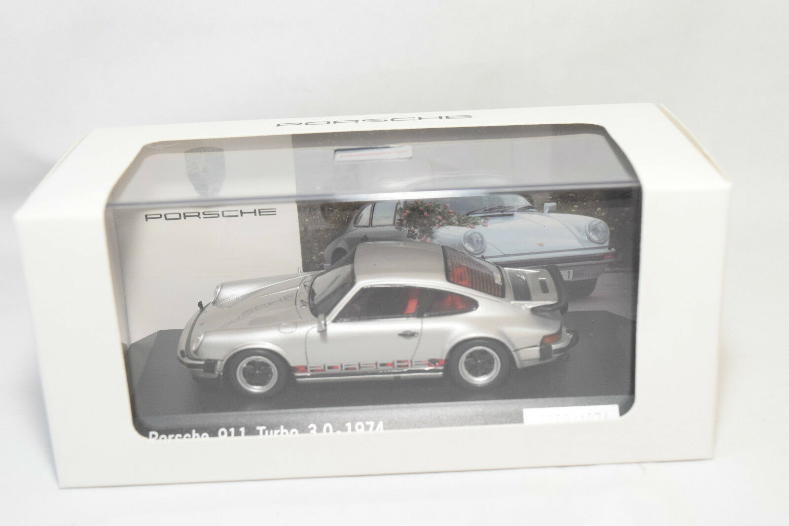 . SPARK PORSCHE 911 TURBO 3.0 1974 METALLIC GREY MINT BOXED RARE SELTEN RARO
