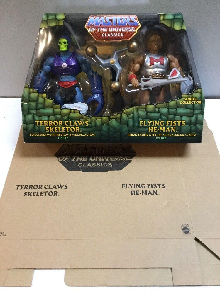 Nuovo Motu Classici Terrore Pinza Skeletor Volante Pugno He-Man Confezione da 2