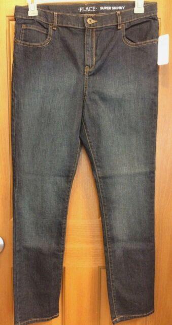 e8dd286c86614 Buy The Children s Place Boys  Super SKINNY Jeans Dark Wear Wash Big ...