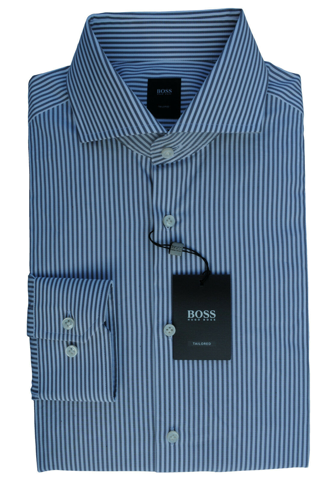 NUOVO Gr. 40 HUGO BOSS JT Christo tailored Camicia Slim Fit Med-grigio JEANS 50370679