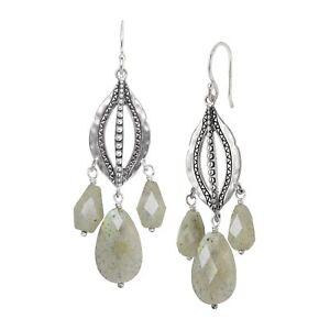 Silpada-039-Flora-039-Natural-Labradorite-Beaded-Chandelier-Earrings-Sterling-Silver