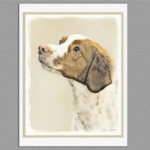 6-Brittany-Spaniel-Dog-Blank-Art-Note-Greeting-Cards