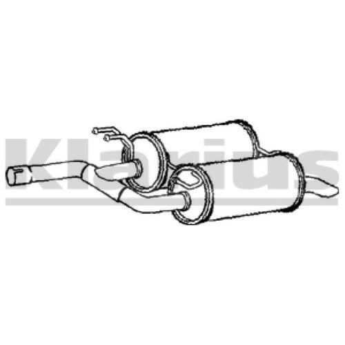 End Silencer Exhaust For LAND ROVER 1x KLARIUS OE Quality Replacement Rear