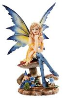 Amy Brown Fantasy Magician Faerie Mushroom Fairy Statue Enchanted Figurine