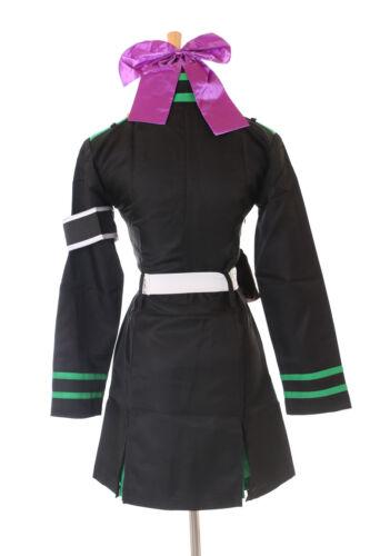 Mn-07-2 journée of the End Shinoa Hiragi Noir Costume Robe Uniforme Cosplay