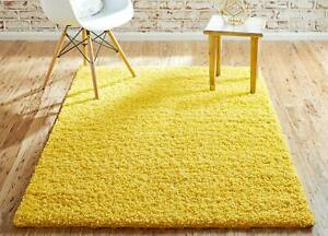 Details about Tuscan Sun Yellow Rug 4\'x6\' Small Bedroom Rug Solid Shag  Modern Plush Rectangle