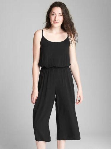 Gap Women/'s Black Wide Leg Cami Jumpsuit Size XXL