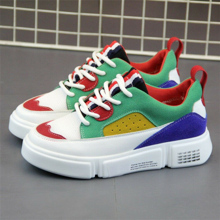 Women's Multi-colors Trainers Sports Casual Lace-Up Sneakers shoes Size 4.5-9