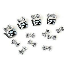 20x 3D Acrylic Rhinestones Bow Tie Nail Art Glitters Zebra Pattern DIY Decoratio