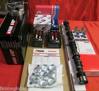 Chevy 327 Master Engine Kit 350hp Cam 1962 63 Pistons Double Roller Head Bolts