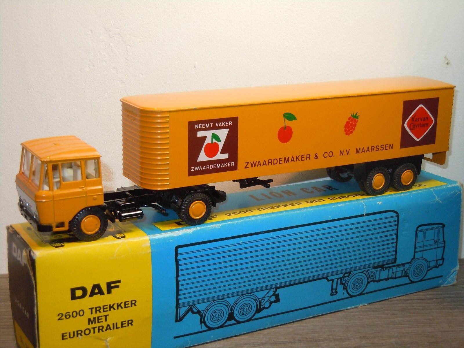 Daf 2600 met Eurossorailer Zwaardemaker - Lion Car 36 Holland 1 50 in Box 36388