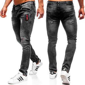Jeans-Denim-Freizeithose-Hose-Clubwear-Casual-Basic-Herren-BOLF-6F6-Unifarben