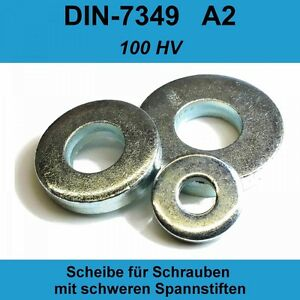 21,0 DIN7349 Unterlegscheiben verzinkt f schwerer Spann-hülse Stifte 200 HV M20