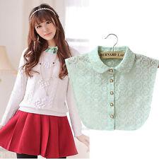 Detachable Women Cotton Lapel Shirt Fake False Collar Choker Necklace