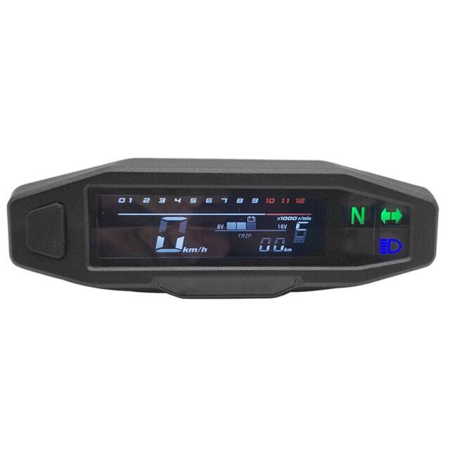 Motorrad LCD Tachometer Digital Odemeter Elektro Einspritzung und Vergaser T5J2