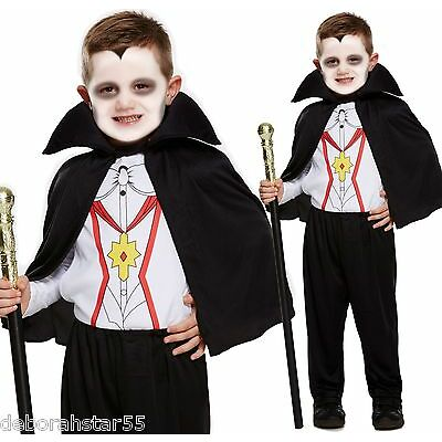 Boys Vampire Dracula Halloween Fancy Dress Costume all sizes