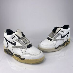 pompa eje acuerdo  Vintage 90's Nike Air Strike Force 1 Mens Sz 9 White Black Rare Athletic  Shoes | eBay