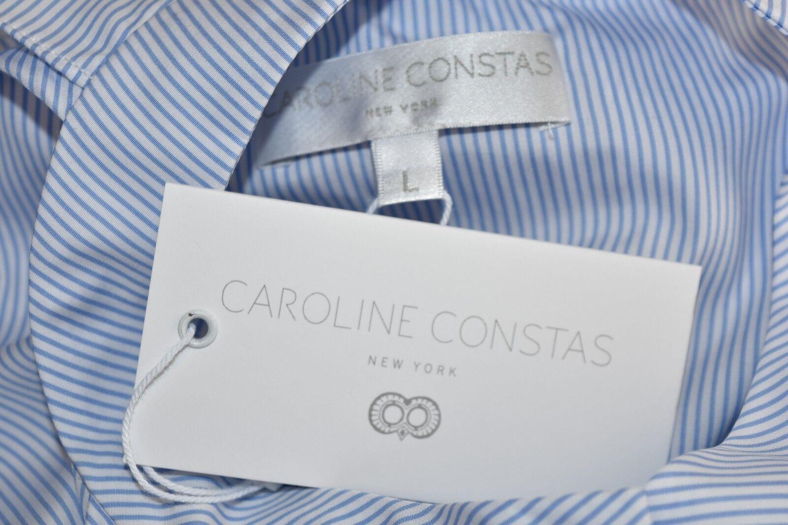 Nuovo Caroline Caroline Caroline Constas Adrie Popeline Maglia Righe Blu Bianco Maglia S L b464e4