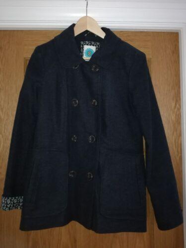 Print Uk12 Breasted Penguin Hardly Worn Jacket Stuff Double With White Lining nq6w4HpYx