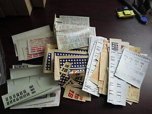 Lot of Vintage HO O Scale Miscellaneous Train Car Decals