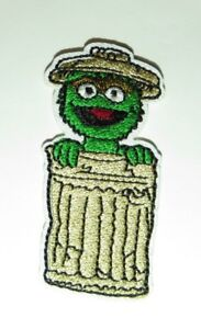 Details About Sesame Street Oscar The Grouch In His Garbage Can Embroidered 2 1 2 Tall Patch