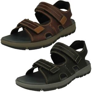 c8e968556 Image is loading Clarks-Brixby-Shore-Mens-Leather-Sandal