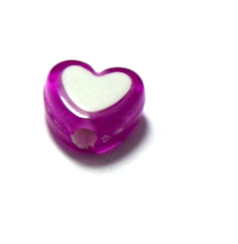 Transparent 50 Herz-Perlen zweifarbig Bunt Hochzeit// Basteln// Heard// Herzform